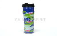 delicate DIY bpa free double wall 400ML water bottle blue