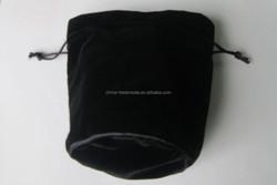 custom printed velvet pouch drawstring type
