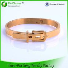 new design cool men's gold plated 18k gold bracelet bangle
