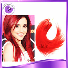 "Free shipping 7A 14"", 16"",18"",20"",22"",24"",26"" Micro Loop Ring hair Extensions Pro-bonded Micro-loop Brazilian Virgin Human Hair"