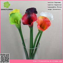 Artificial rubber plant plastic calla lily for wedding decoration
