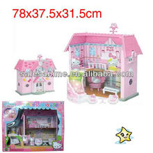 Wholesale Hello Kitty Mini Pink Camper Van Dolls House Playset Carry Along Toy