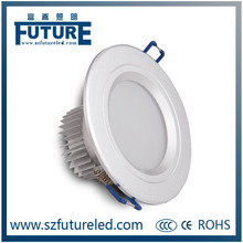 wholesale eyeshiled round recessed led down light 15W ,Aluminum led down light spring,brightness down wall light