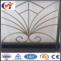Large decorative metal flower used in balcony railing
