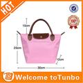 china proveedor de nylon 230d de imitación señora bolso con la pu manija