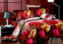 new design printed bedding set, microfiber bed sheet
