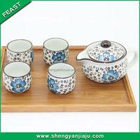 wholesale cheap hot sale brass copper tea set