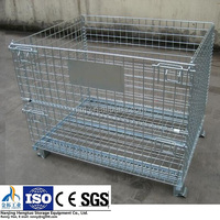 Industrial Stackable Storage Wire Mesh Cage with Heavy Duty