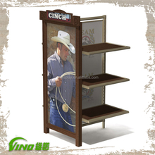 Pop wooden retail store clothing shop display rack