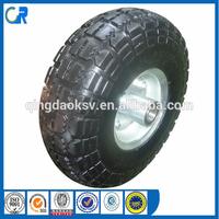Environmental wheel ! Yinzhu manufacturer pu solid tyre 4.10/ 3.50-4 for wheel barrow