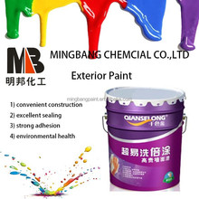 Acrylic flexible exterior latex wall paint