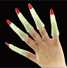 AM-001 Yiwu Caddy Halloween party supplies zombie false accessories glow in dark costume witch nail wraps