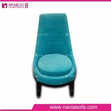 New design style fabric living room sofa high back green chair