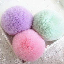 Rex Rabbit Fur Pom Poms Fur Pompons / Fur Pom Pom Ball / Genuine Fur Ball