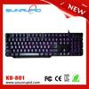 Portable usb backlit gaming keyboard, mini laptop led gaming keyboard