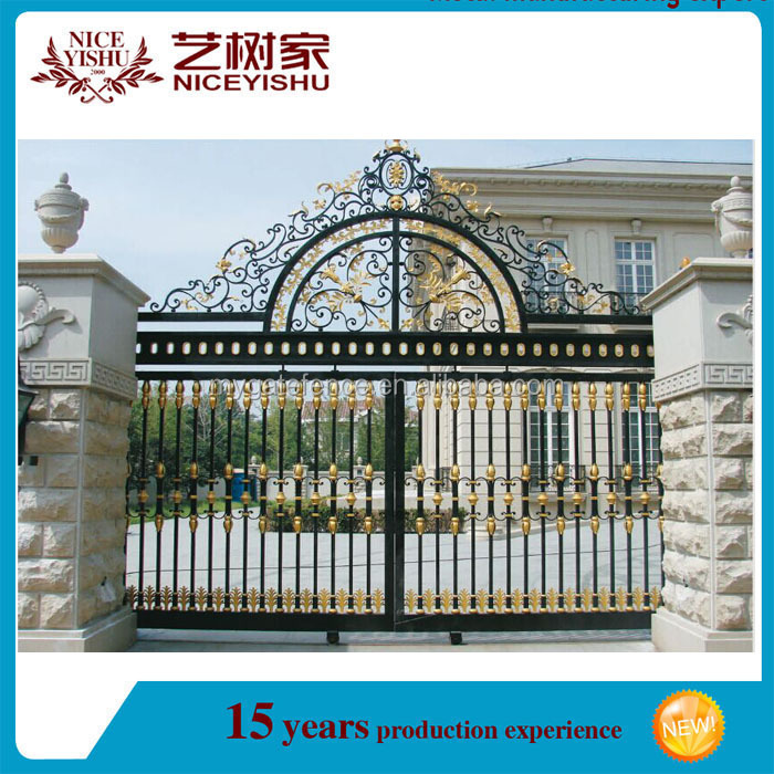 Wrought iron main gate door designs buy iron gate for Main gate door design