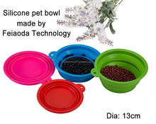 2015 New Product Food Grade silicone dog bowl with lid