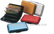 Tarjetero, cartera de tarjeta de aluminio, Metal casos de tarjetas de crédito