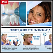 great for sensitive teenth whitens and polish teeth in just minutes a day