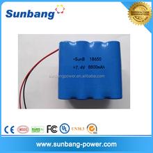 18650 7.4v li ion battery 8800mah for electronic basketball machine