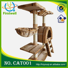 Medium Size Luxury Wood Style Cat House,Cat Trees 2015 top selling cat toy