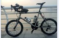"titanium road bike frame designed with 20"" wheel size"