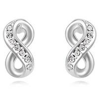 free shipping hot sale jewelry swarovski element crystal infinite stud earring