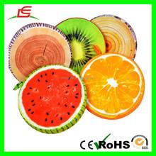E409 High Quality Sublimation Print Foam Stuffing Plush Fruit Toys