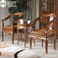 Model:06XXY02 Hot sale good quality hotel room set bamboo material solid wood hotel room chair