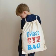 White Cotton Gym Sack Drawstring Bag