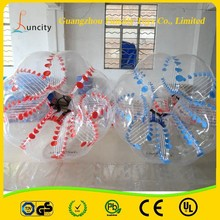 Hot selling funny sport ball inflatable bubble football /zorb ball/bumper ball
