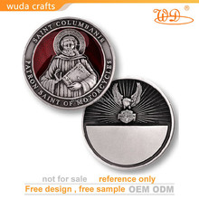 Handmade chrome rescue blank nickel engravable challenge coin