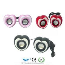 USB 2.0 Digital Stereo Multi Media MINI Speaker Red heart shape