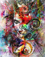 2015 Newest High Quality Abstract Portrait Oil Painting On Canvas Modern Abstract Lady Figure Painting On Canvas For Wall Decor