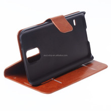 High Quality Pu Leather Case for Samsung Galaxy Note 3 Stand Cover Case Brown
