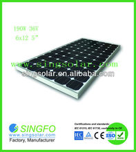 High Power Home Use 190 Watts Solar Panel