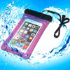 Fashionable pvc cell phone Waterproof pouch with Strap for iPhone