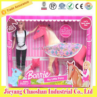 Classic Plastic 11.5 Fashion Doll With Pony Horse