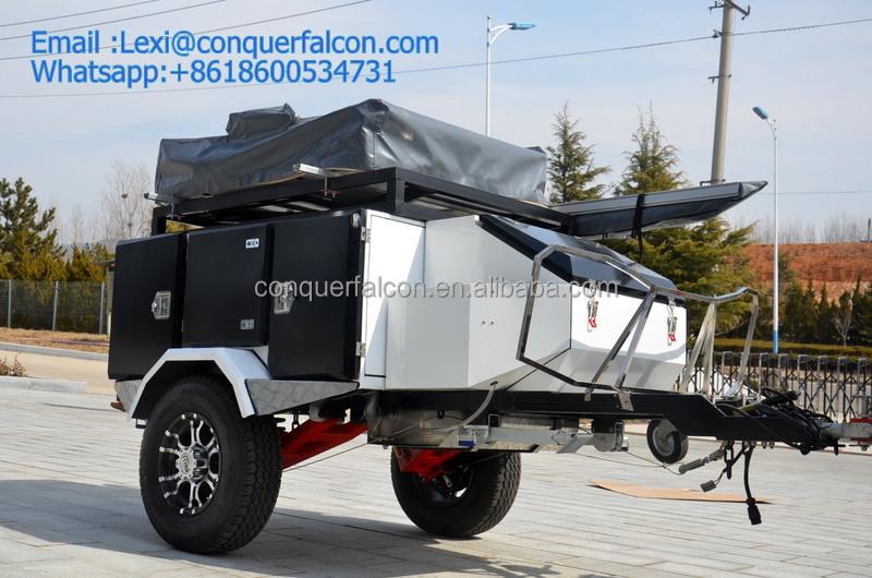 Elegant Product Categories Gt ROOF TOP TENT Gt 14m ROOF TOP TENT CAMPER TRAILER & Camper Trailer With Roof Top Tent : Simple Black Camper Trailer ...