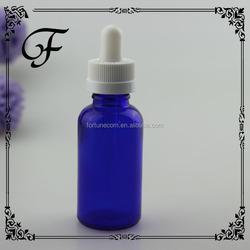 trade assurance! Child tamper proof cap 15ml frosted blue glass dropper bottles