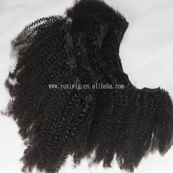 Afro Hair Extensions Afro Kinky Curly Clip in Hair