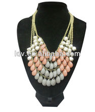 layers scarf pendant jewelry wholesale dropship statement necklace 2012 LDN1595