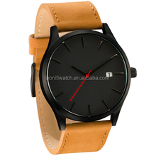 Fashion watches new 2015 styles stainless steel leather man watch