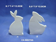 2015 hot sell white porcelain rabbit, home decoration, gifts
