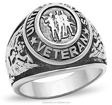 Antique design manufacture price fashion 925 sterling silver military ring