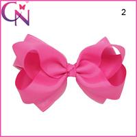 New Arrival Organza Popular Fashion Eco-friendly Hair Bow With Clip For Girls CNHBW-14111001-4W2