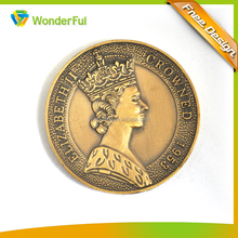 Badge & Emblem Product Type and Metal Material 3D Antique Bronze Plated Cheap Custom Souvenir Coin