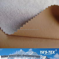 Free Sample Available Waterproof 4 Way Stretch Fabric Laminated Terry Fleece Fabric