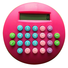 Round Design Pink Funny Calculator