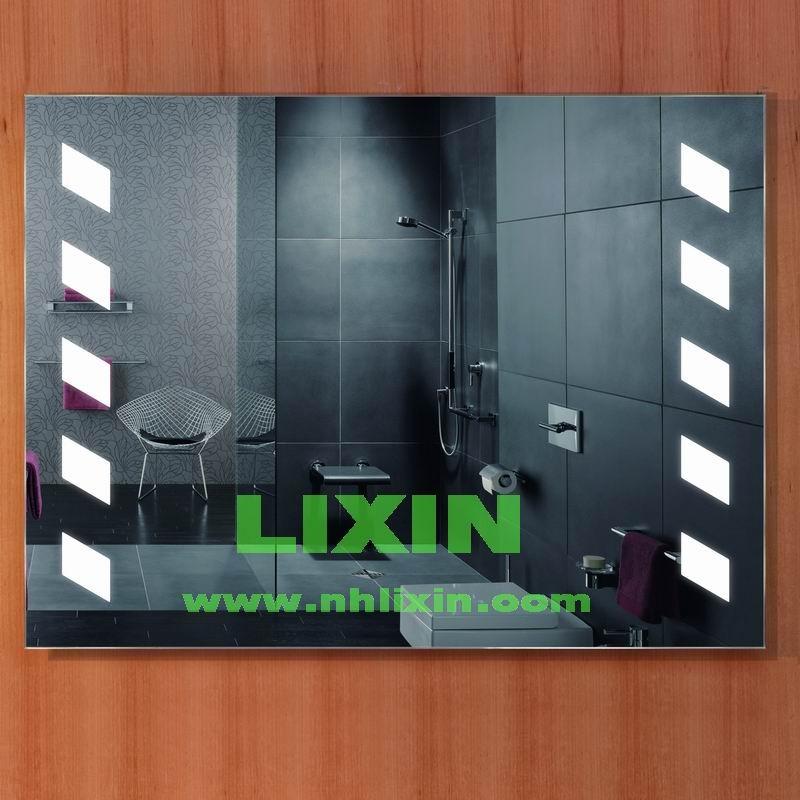 En aluminium encadr e tactile cran salle de bains miroir for Miroir intelligent
